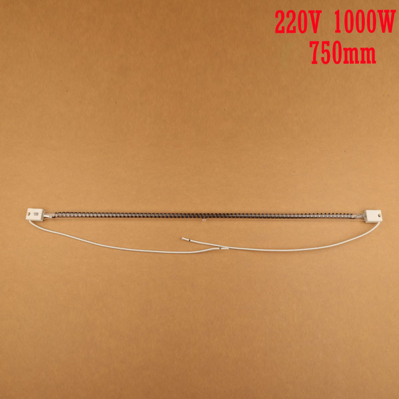 carbon fiber halogen heating lamp,carbon infrared baking lamp,radiator/printing machine using carbon pipe 750mm 220V 1000W