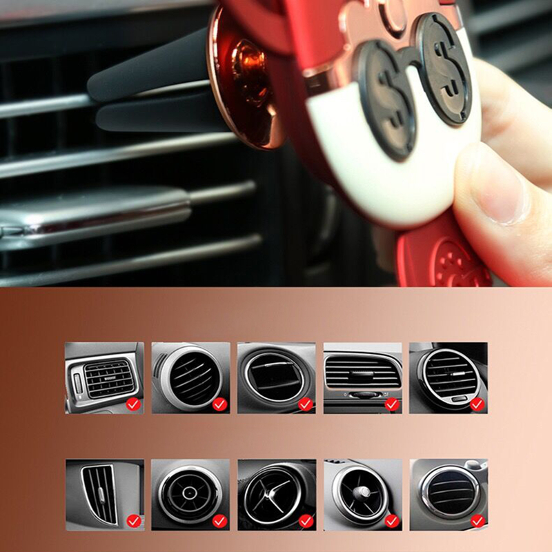 Gravity Car Phone Holder For Phone In Car Air Vent Mount Stand Mobile Phone Holder Universal Gravity Navigation phone holder in Phone Holders Stands from Cellphones Telecommunications