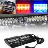 Red Blue 16 LED Strobe Lights High Intensity LED Emergency Hazard Warning ForCar SUV Truck Interior Windshield With Suction Cups