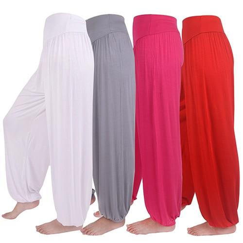 Women Comfy Harem Loose Long   Pants   Belly Dance Boho   Wide     Leg   Trousers High Waist Stretch Harem Flare   Pants   Bloomers   Pants