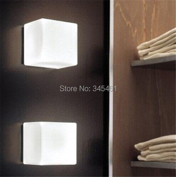 ФОТО 4pcs/lot  - Glass wall lamps Modern L15cm White sugar Ice Cube backdrop Light For KTV/Bar/Room/Asile Ice Brick Lamp