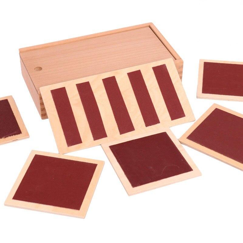 En bois Montessori Matériaux Sensoriels Jouets Pour Enfants Sens Tactile Conseil Préscolaire Montessori Toucher Enseignement Sida UB2868H