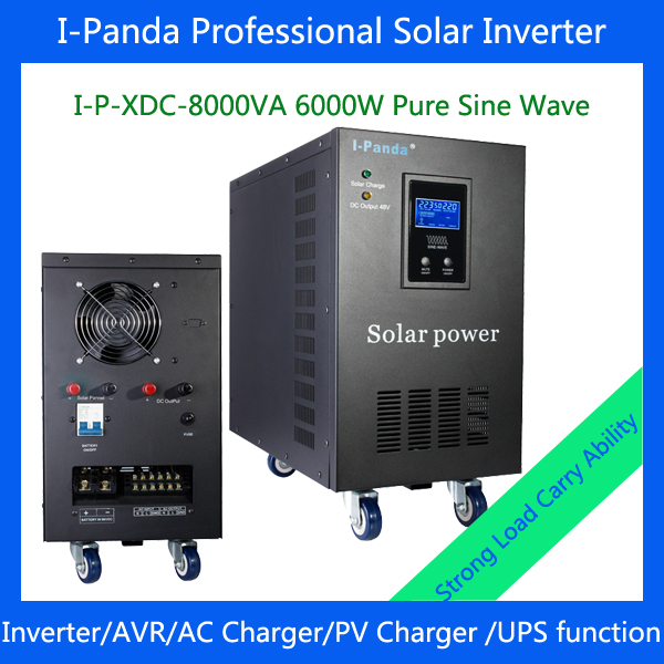6000w hybrid inverter 6000w pure sine wave inverter 6000w ulity/solar  dc to ac power inverter for solar panel system 1500w 24vdc to 220vac pure sine wave inverter with 10a ac charge for solar panel