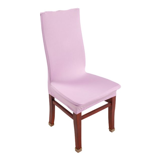 Light Pink Spandex Chair Covers Wholesale Linens And 1 Piece Purple Stretch Polyester Dining For Party Decoration