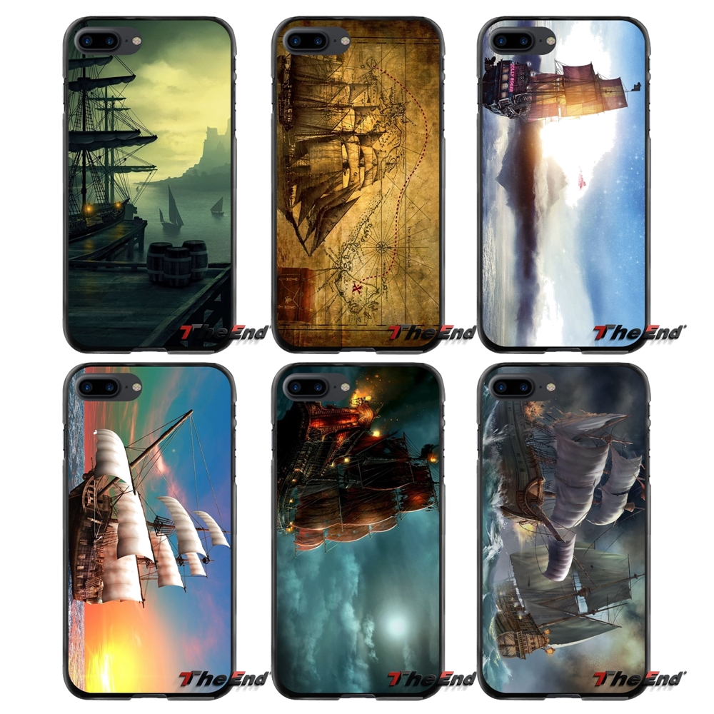 Pirate Ship Accessories Phone Cases Covers For Apple iPhone 4 4S 5 5S 5C SE 6 6S 7 8 Plus X iPod Touch 4 5 6