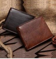2018 New Lychee Grain Layer Leather Retro Men S Leather Bag Handbag Leather Men S Wallet
