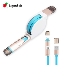 Retractable Micro USB Cable Fast Charging Cable 8 pin For iPhone 5s 6 6 plus micro usb Android cable for Samsung Huawei Cord