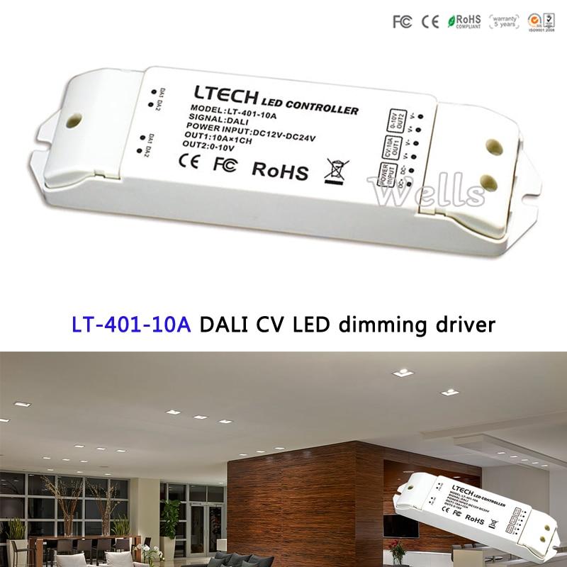 цены на LT-401-10A DALI LED Dimming Driver;DC12V-24V Input 10A x 1CH+0-10V*1CH PWM Output LTECH led controller for led strip в интернет-магазинах