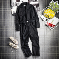 2019 new tide male England hiphop loose jumpsuit male hair stylist fashion simple tooling show jumpsuit singer costumes