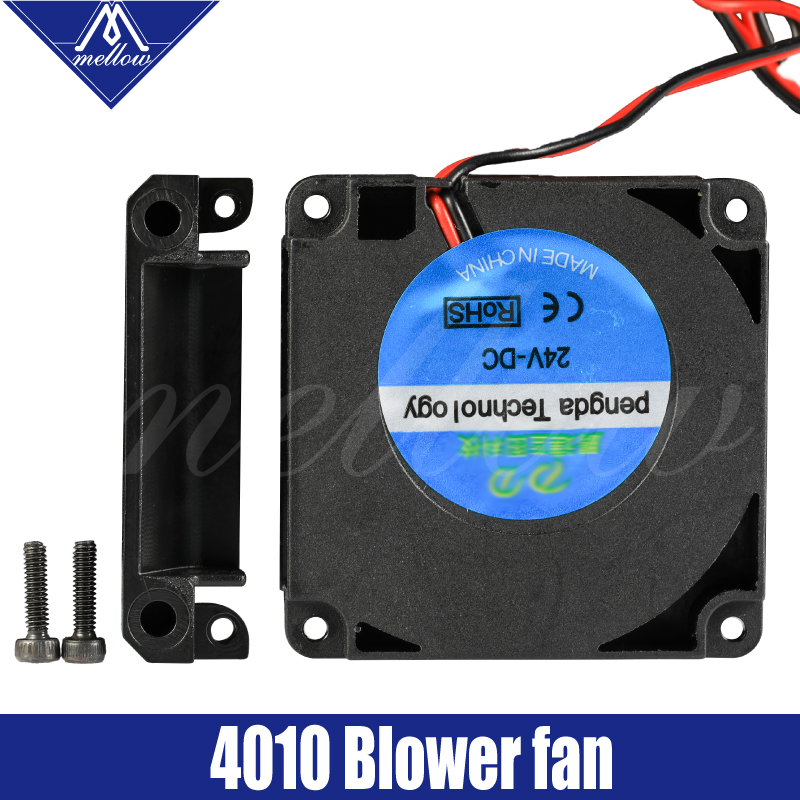 Mellow 3D Printer Kit 12V 24V 40*10mm 4010 Hydraulic Bearing Blow Radial Extruder Cooling Fan Turbo Fan For Creality CR10 Ender3