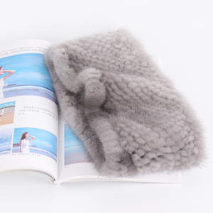Image 2 - 女性冬の本物のミンクの毛皮のリングスカーフ良好な弾性ニット本物のミンクの毛皮厚く暖かい女性の自然毛皮ヘッドバンドショール