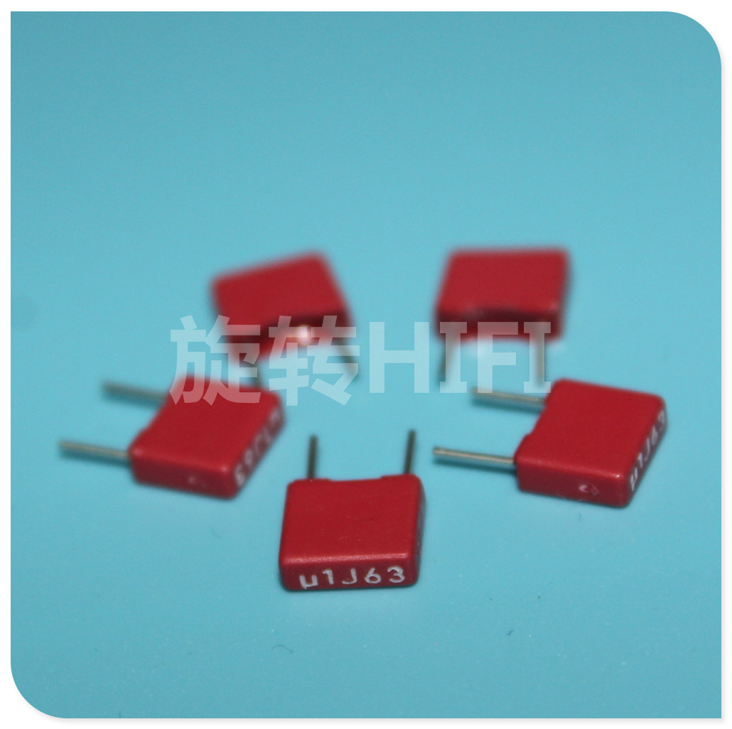 10PC New WIMA 0.1 UF 63 v red horse fever capacitor pin pitch 5 mm