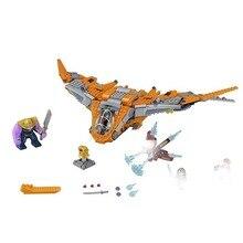 775pcs Legoings Marvel Avengers Super Heroes Infinity War Thanos Ultimate Battle Model Building Blocks Toys For Kids DBP321
