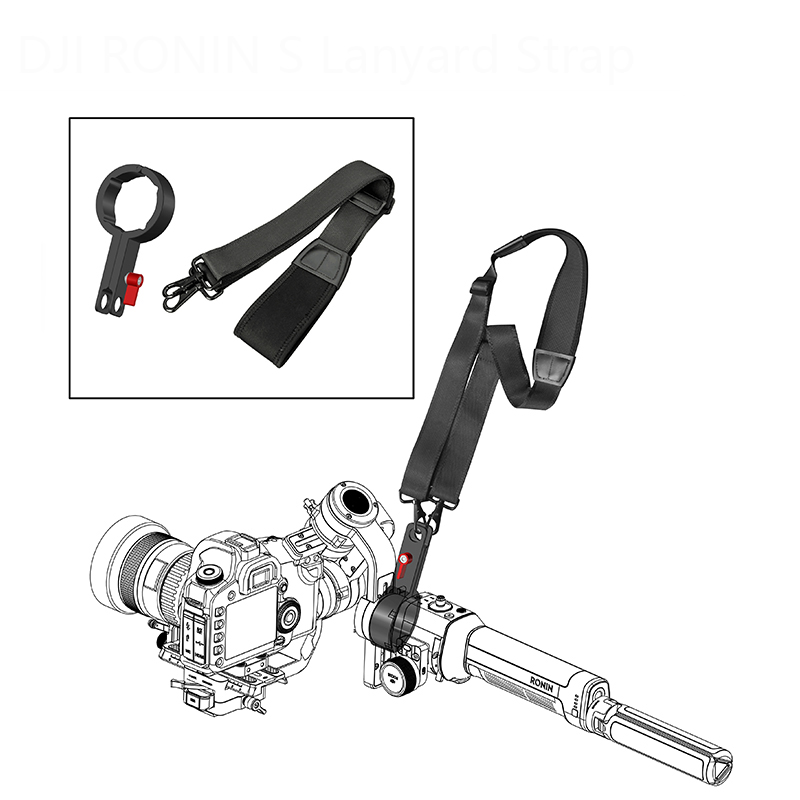 2 in 1 DJI Ronin S carbon fiber Extension Rod pole Hang Straps Buckles lanyard Ronin-S Handheld Gimbal Stabilizer Accessories 1
