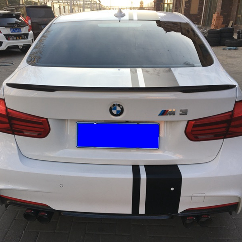 For BMW F30 F80 M3 Spoiler Carbon Fiber Material M Performance Style 2012 - up 320i 328i 335i 326D F30 Carbon Fiber m performance style carbon fiber rear trunk wing spoiler for bmw 3 series f30 2012 2018 318i 320i 328i 330i 335i