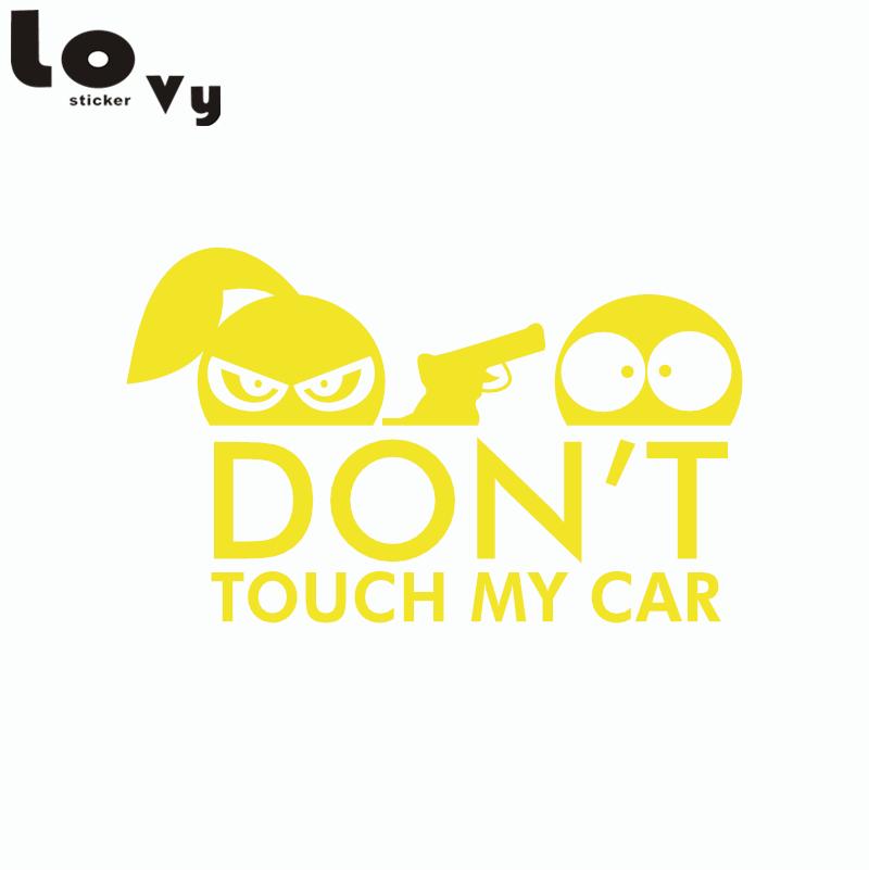 RÖR INTE MIN BIL Vinyl Bilklistermärke Rolig tecknad mönster Car - Exteriör biltillbehör - Foto 5