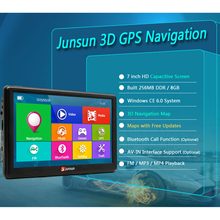 Junsun 7 inch Car GPS Navigation FM MP3/MP4 Players North America Map Free Upgrade Truck gps navigators Sat nav automobile