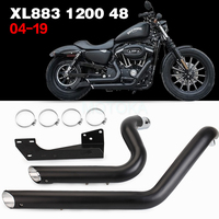 Motorcycle Modified Exhaust Pipe For Sportster Iron XL883 XL1200 X48 X72 USA Vance & Hines 2004 2019 Black