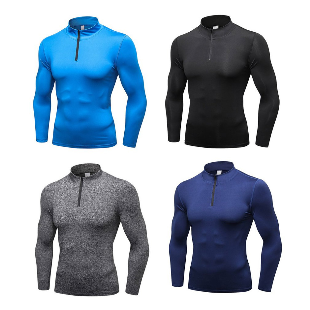 Mens Compression Top Fast Dry Sweater Thermal Wintergear Fleece Compression Baselayer Long Sleeve Under Top T ShirtsMens Compression Top Fast Dry Sweater Thermal Wintergear Fleece Compression Baselayer Long Sleeve Under Top T Shirts