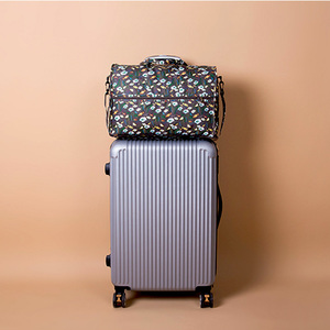 Image 4 - High Quality Nylon Folding Travel Bag Large Capacity Women Duffle Bag Organizer Packing Cubes Luggage Printing Men Weekend Bag