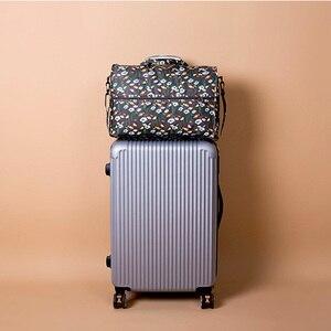 Image 4 - Wysokiej jakości nylonowa składana torba podróżna o dużej pojemności kobiet worek marynarski organizator kostki do pakowania bagażu drukowanie mężczyzn torba weekendowa