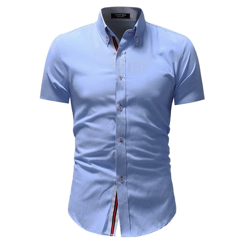 Hemden Marke 2017 Mode Männlichen Shirt Mit Langen Ärmeln Tops Einfache Geometrie Druck Shirt Herren Hemden Slim Männer Hemd Xxxl Hemden