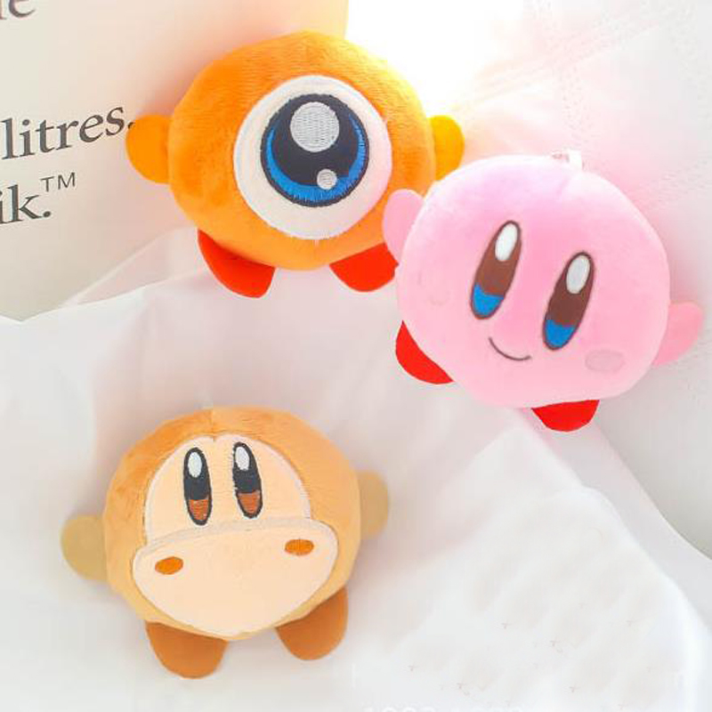 1 Pcs Kawaii 8cm Kirby Plush Toy Keychain Pink Kirby Game Character Soft Stuffed Toy Gift for Children image