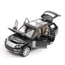 1:24 alaşım araba modeli DieCast SUV L = 18Cm (M923R 6) W/6 kapı açık için mükemmel kalite koleksiyon işık/ses tasarımı