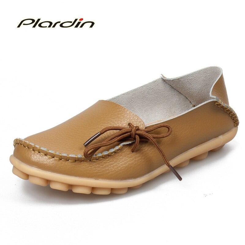 Plardin 2017 Mujeres Zapatos Planos de La Mujer Mocasines Zapatos Casuales de cu