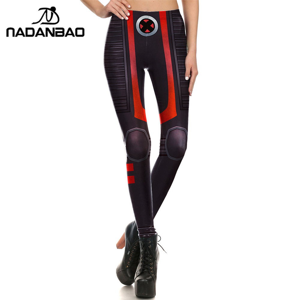NADANBAO New Fashion Women   leggings   Super HERO X-Men Leggins Printed   legging   for Woman Clothing
