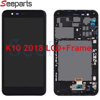 For LG k10 2018 LCD Display with Touch Screen for LG k10 2018 k11 display k10 2018 lcd screen with frame Digitizer Assembly