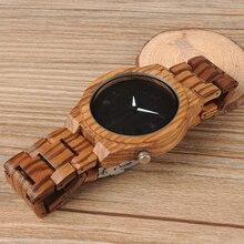 BOBO BIRD M30 Zebra Wooden Quartz Watch With Wood Band Lightweight Vintage Wooden Men Analog Luminous Pointers Watch