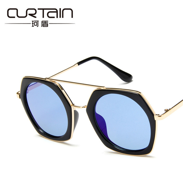 302eebe742bf CURTAIN new square style men and women sunglasses the brand design  sunglasses the big frame all-match colorful sunglasses