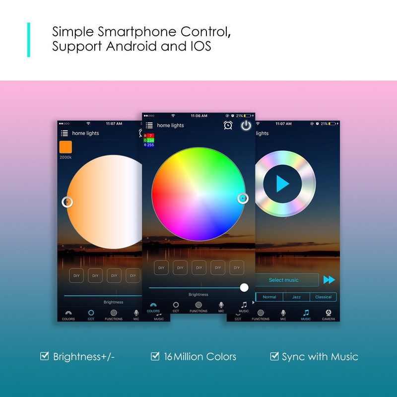 BOLEDENGYE Bluetooth WiFi RGB kontroler rgbw dla 2835 5050 listwy RGB led działa z IOS Android Alexa Google Home inteligentne urządzenie