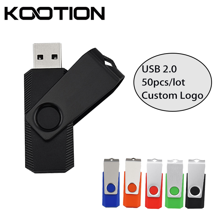 50pcs Lot Mini USB 2 0 Flash Drive Pendrive 8GB 4GB 2GB 1GB Logo Printing Memory