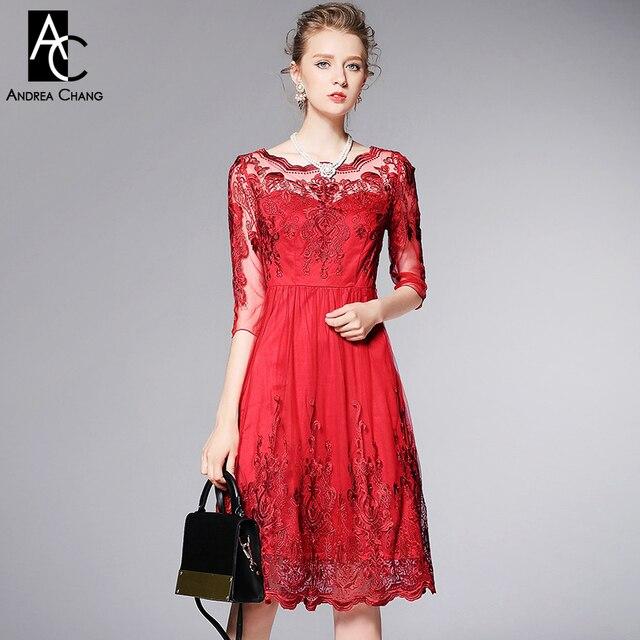 Frühling sommer runway designer frauen kleider rot blau ballkleid ...
