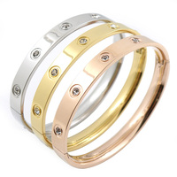 Promotion Stainless Steel Love Bracelet For Women Men Wristband Rose Gold Cuff 2015 Love Bangle Luxury