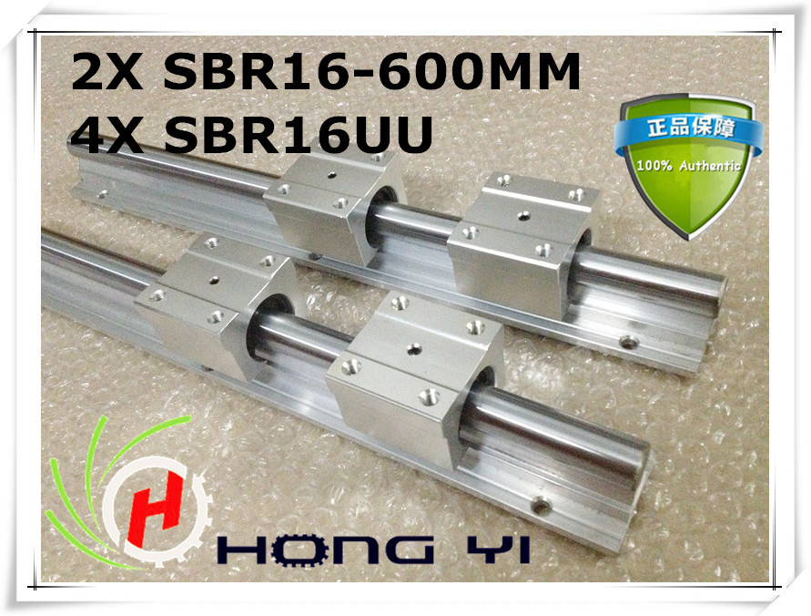 ФОТО Best Price! 2pcs SBR16 rail L600mm 16mm linear guide cnc router part linear rail 4PCS SBR16UU blocks
