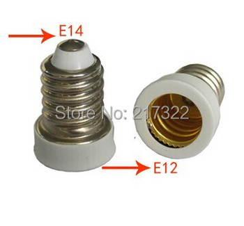 100PCS,E14 TO E12 adapter Conversion socket High quality material fireproof material E14 TO E12 socket adapter Lamp holder
