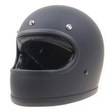 Дэвид стиль Ретро Мотоцикл Шлем винтаж стиль мотоцикл шлем матовый черный S, M, L, XL доступны