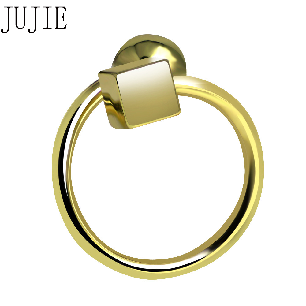 JUJIE Creative Personality Geometric Small Ball Copper Open Ring For Women Adjustable Fa ...