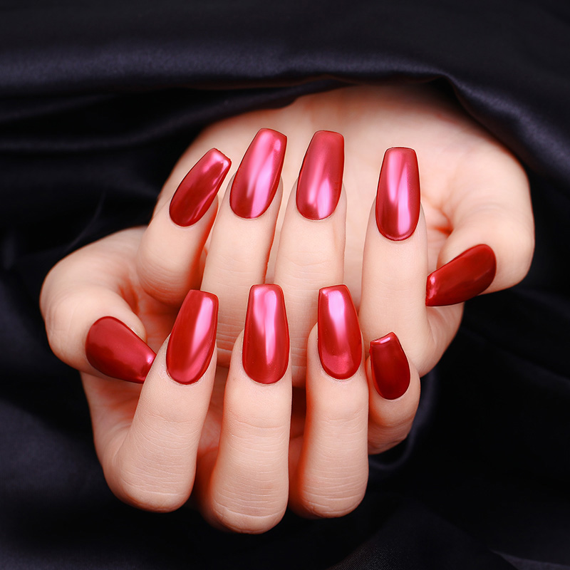 Nicole Diary Mirror Nail Glitter Powder Manicure Art Chrome Pigment Dust Red 1box In From Beauty Health On Aliexpress