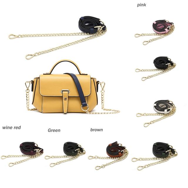 Leather Shoulder Bag Strap Female Handbag Straps for Bag Parts Accessories Gold Chain Off White Straps for Handbags Thick Belt