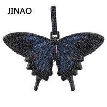 Jinao new iced out昆虫多色蝶ペンダント & ネックレスマイクロパヴェキューバジルコンストーンペンダントネックレスヒップホップのギフト