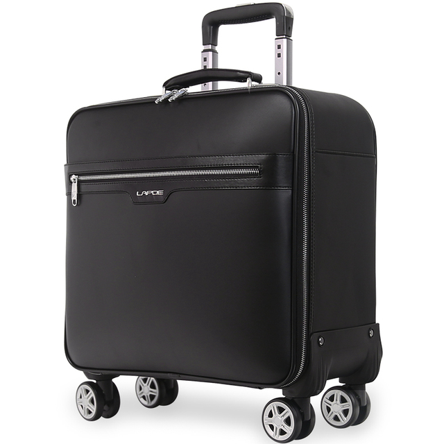 PU Leather 16/20/24 inch Rolling Luggage Sets Spinner Men Business Suitcase Wheels Carry On Travel Bags