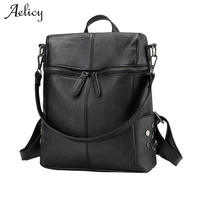 Aelicy 4 Colors Fashion Women Backpack Youth Vintage Leather Backpacks For Teenage Girls Female School Bag