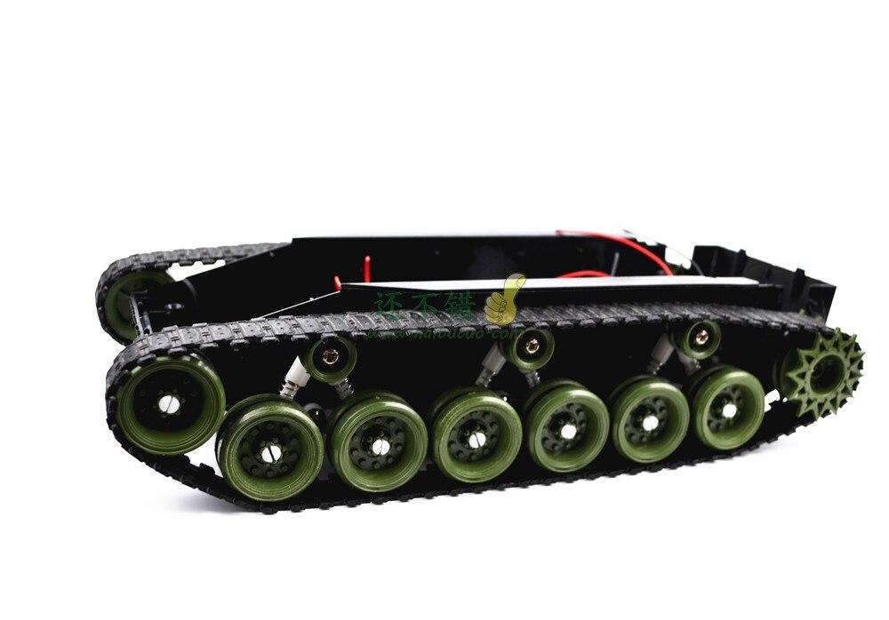 Châssis en plastique de réservoir d'absorption de choc léger de bricolage 85 avec la courroie en caoutchouc de chenille a suivi la grande taille de véhicule