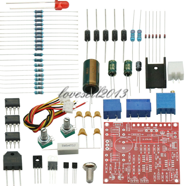 0 30V 2mA 3A Continuously Adjustable DC Regulated Power Supply DIY Kit Short Circuit Current Limiting Protection