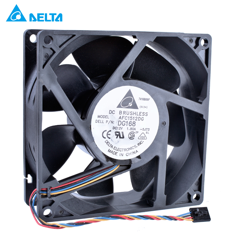 цена New original 15050 12V 1.80A AFC1512DG DG168 15CM 150x150x50mm Double ball bearing air volume server cooling fan