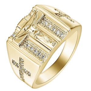 ROMAD Men's Ring Gold Filled J